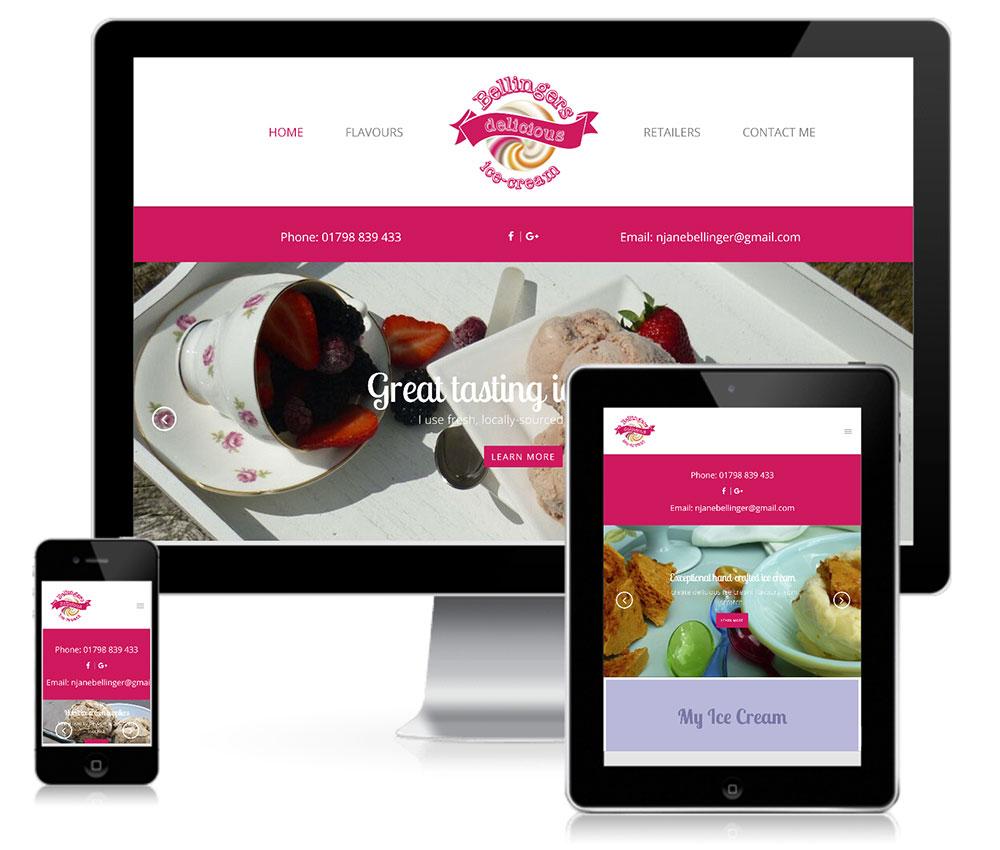 Ice Cream Web Design