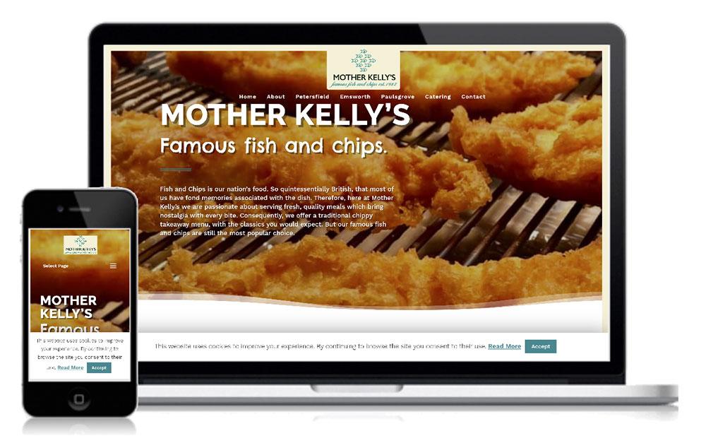 Mother Kelly Fish Shop Web Design