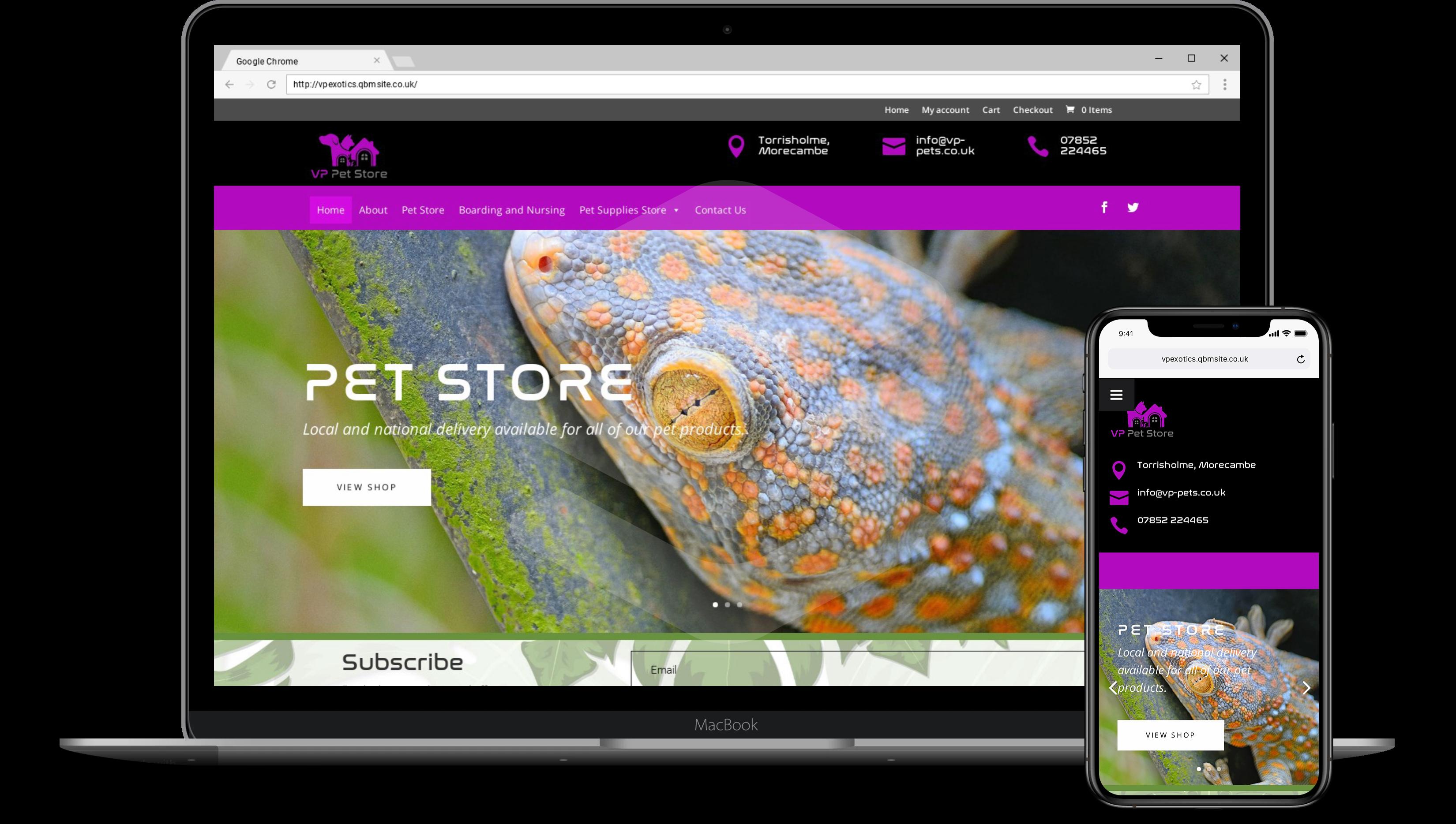 VP Pets Web Designer Lancaster
